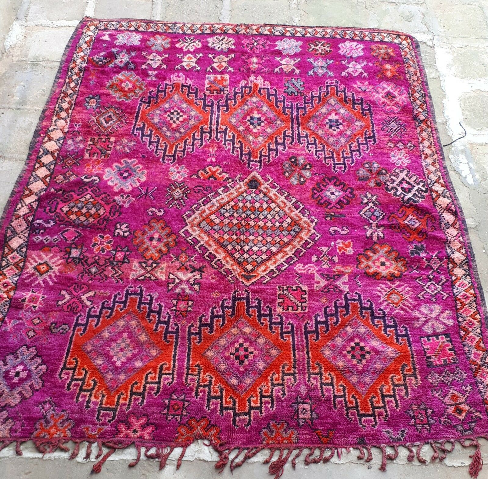 MGoldccan Boujaad Boujaad Boujaad woollen rug 258 x 215cm 210adc