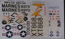 1:72 Modeldecal -McDonnell F-4 Phantom - 1 x RAF, 1 x USAF. Without instructions