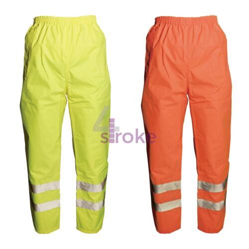 Hi Vis Waterproof Rain Over Trousers High Viz Visibility Safety Work Reflective