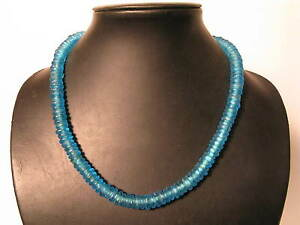 Professioneller Verkauf Pulverglasperlen 11mm Ozeanblau Ocean Spacer Ghana Recycling Glass Bead Afrozip Internationale Antiq. & Kunst Antiquitäten & Kunst