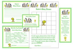 Image Is Loading Looney Tunes Baby Shower Games Amp Favors Package