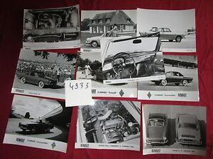 Onderdelencatalogi Auto, motor: onderdelen, accessoires RENAULT Caravelle et Floride 10 photos de presse 1961-1968 N°4933