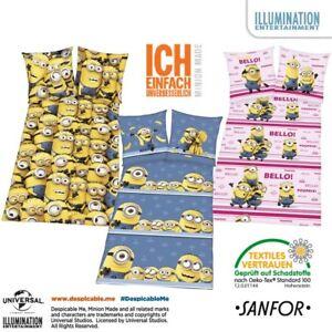 Illumination-Entertainment-Minion-Kinder-Renforce-Bettwaesche-Waesche-Bett-Bezug