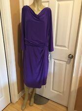 Lauren Ralph Lauren Dress Sz 16W Cosmo Purple Business Cocktail Dress NWT. $154.