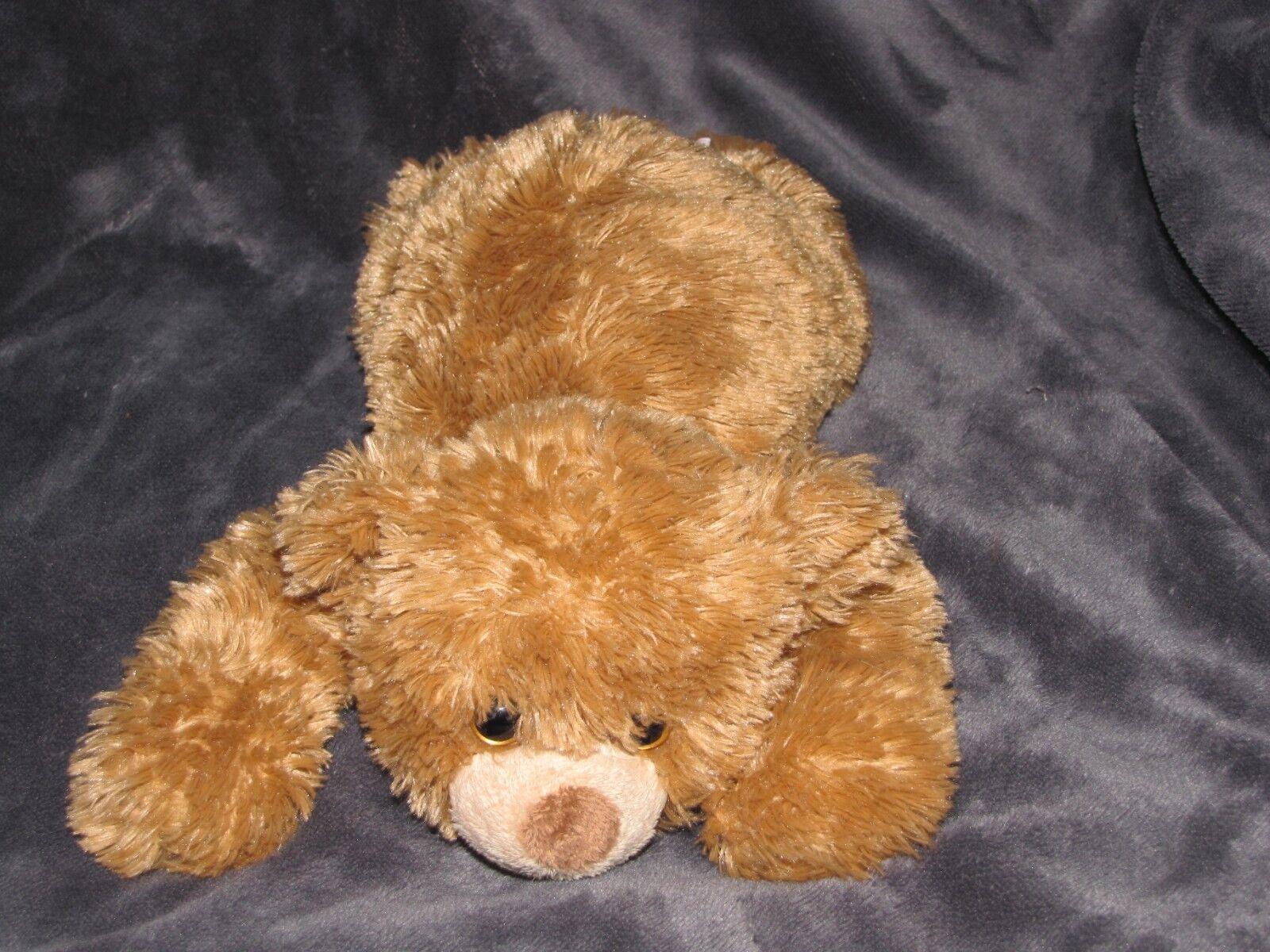 CLASSIC TY LAYING LYING STUFFED PLUSH BROWN TAN goldEN TEDDY BEAR 2011 CHAUCER