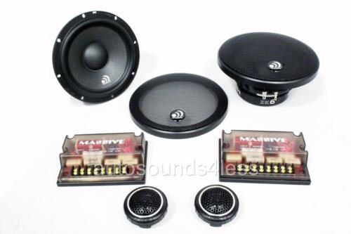 "NEW Massive Audio ZK6 400 Watts 6.5/"" 2-Way Car Component Speaker System 6-1//2/"""