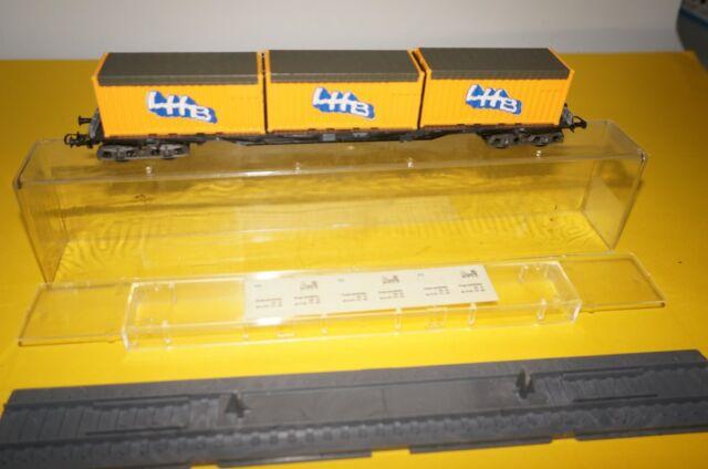 """URF25//3 Roco H0 Container-Werbewagen /""""Junghans/"""" OVP gepflegter Zustand"""