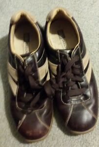 Mens Skechers Size 9 5 Brown Leather Comfort Casual Lace