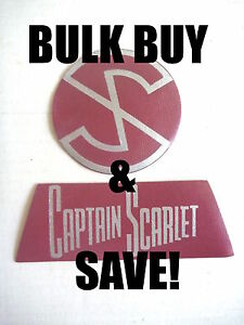 WHOLESALE 20x CAPTAIN SCARLET & THE MYSTERONS TV PATCHES AUSSIE ONLY WHOLESALE