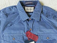 Robert Graham Catch Surf Shirt Fitted Sky Blue Plaid Men's Size L (MSRP $178)