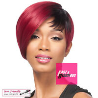 It's A Wig Synthetic Straight Bob Style Q Cristine Iron Friendly