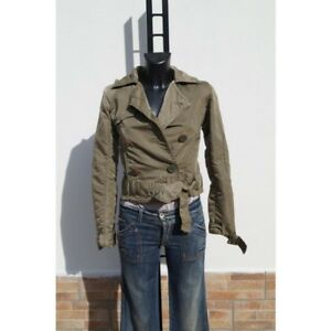 cheap for discount 48b4c 3dba5 Dettagli su Giacca donna colore verde militare taglia XS marca MISS SIXTY