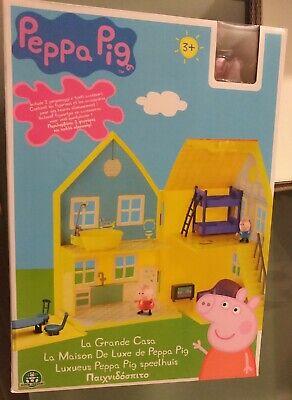 Peppa Pig Maison De Luxe Avec 2 Personnages Neuf Ebay