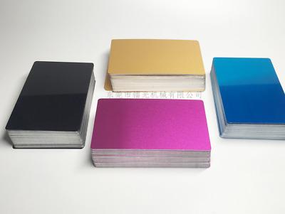 100pcs//lot Aluminum Sheet 86x54x0.2mm For laser Marking Machine Metal Sheets Hot