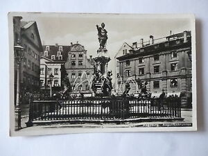 Ansichtskarte-Augsburg-Augustusbrunnen-30er