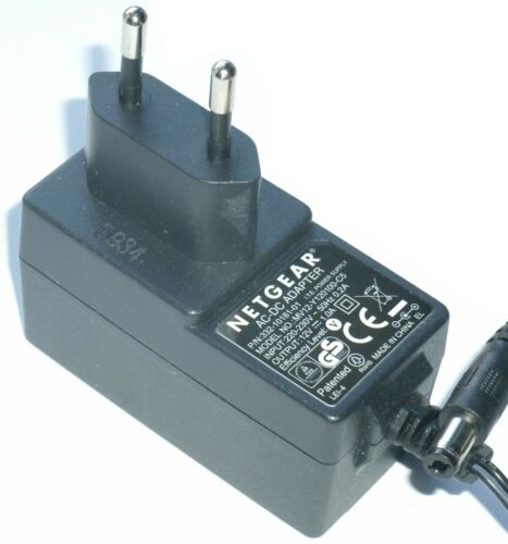 NETGEAR MV12-Y120100-C5 AC//DC POWER ADAPTER 12V 1.0A EU PLUG 332-10181-01