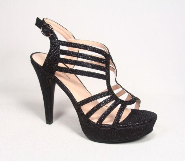 Glitter Birdal Strappy High Heel Platform Evening Pump Shoes  Size 5 - 10 NEW