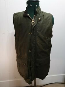 Barbour-Classic-Wax-Waxed-Jacket-Green-Gilet-Bodywarmer-M-L-Country-shooting