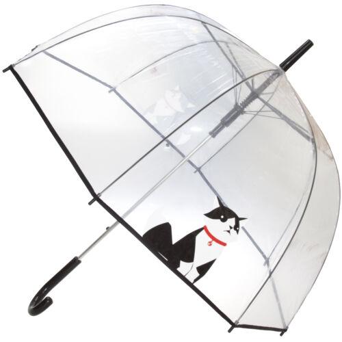 X-Brella Unisex Adults 23in Transparent Cat Stick Umbrella 207