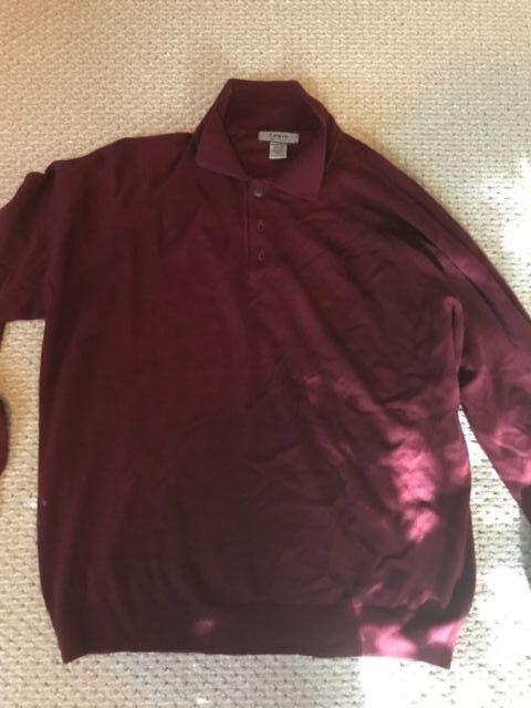 Mens Tagio B.B.B.  Fine Merino wool blend burgundy sweater, XL,