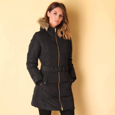 Adidas Women's Elongated Down Long Jacket Ladies Hooded Coat S90334 Black | eBay