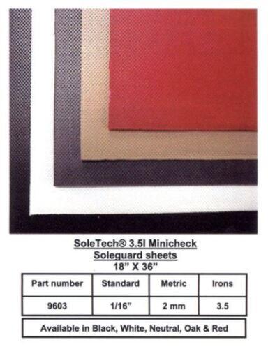 """marron SOLETECH Mini-Check Semelle en Caoutchouc garde-Semelles Feuille 18/""""x36/"""" Noir rouge Chêne"""