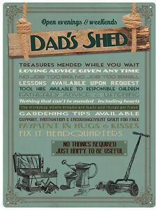 Dad/'s Garage Large Metal Sign 400mm x 300mm de