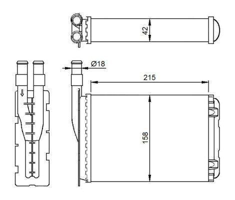 d7r034tt L/'eau Refroidisseur Moteur Refroidisseur autokühler ThermoTec
