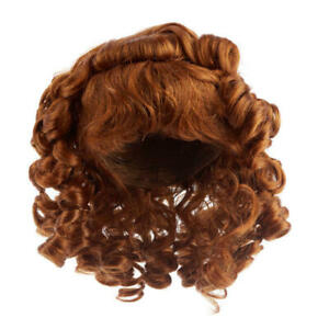 Factory Direct Craft Antina/'s Auburn Curly Doll Wig3 Pieces