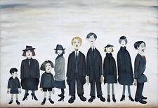Incorniciato LS Lowry stampa -- il partito funerarie (Picture Pittura artista inglese)