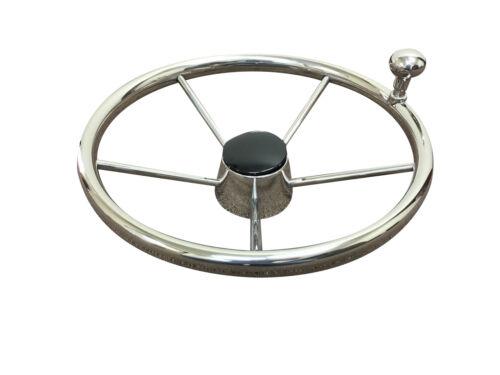 "Pactrade Marine Destroyer 13 1//2/"" Steering Wheel Control Knob Black Cap 5 Spoke"