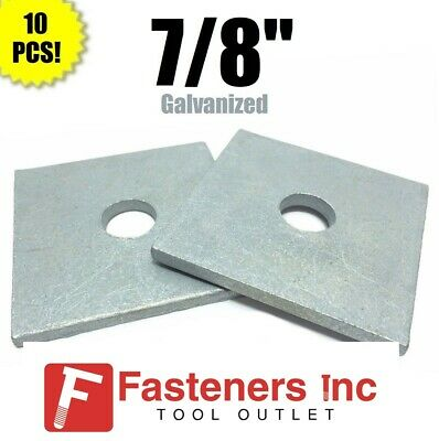 """Qty 50 7//8/"""" x 3/"""" x .31 approximately Square Bearing Plate Washer Galvanized"""