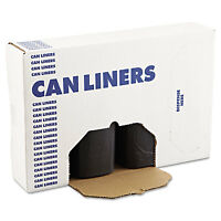Boardwalk Sh-grade Can Liners 38 X 58 60gal 1.2mil Black 25/roll 4 Rolls/carton on sale
