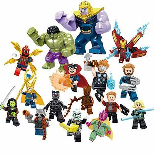 Super Hero Minifigures Set 16 Super Heroes Building Blocks Action Figures