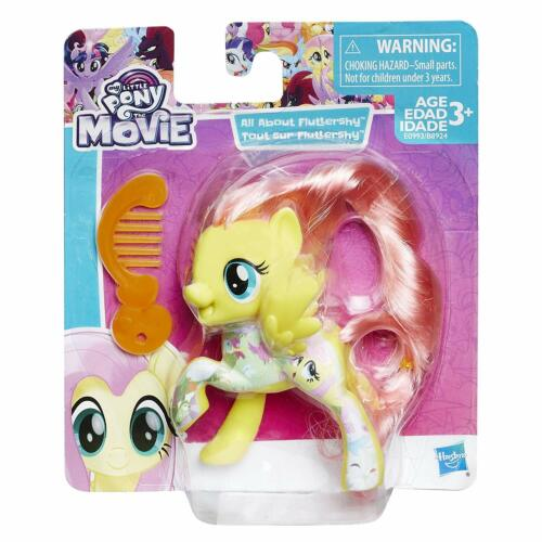 """All About Fluttershy Hasbro My Little Pony Movie 3.5/"""" Mini-Figure"""