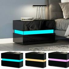 1d0d6905f6 item 6 Modern High Gloss Chest of 2 Drawers Bedside Table Cabinets  Nightstand LED Light -Modern High Gloss Chest of 2 Drawers Bedside Table  Cabinets ...