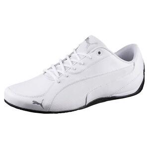 PUMA Drift Cat 5 Core Scarpe da Uomo in Pelle Tempo Libero Sneaker PUMA WHITE 362416 03