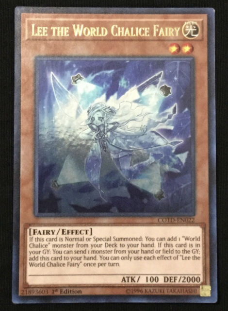 Yugioh Cotd-en022 Lee The World Chalice Fairy Ultra RARE Unlimited Card