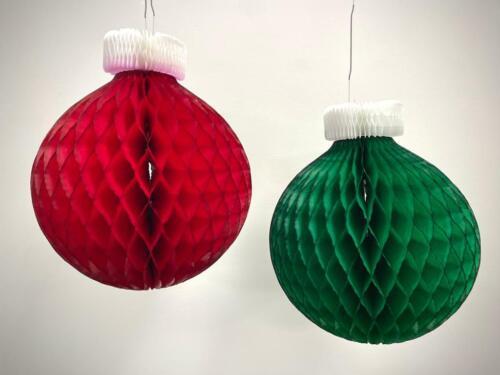 Christmas Bauble Honeycomb Decoration