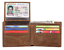 Mens-Genuine-Leather-Bifold-Wallet-with-2-ID-Window-and-RFID-Blocking-Brown thumbnail 1