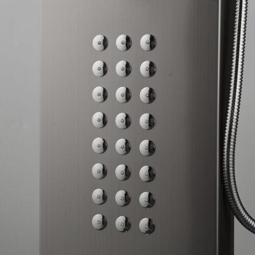 DK 4 Function Shower Panel Digital Screen Massage Jets Hand Held Mixer Faucet