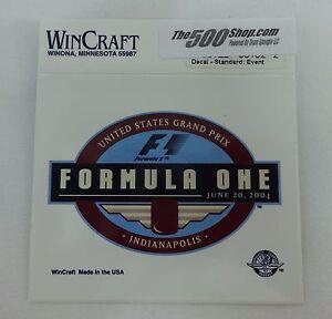 2004 Formula-1 United States Grand Prix Event Collector Decal