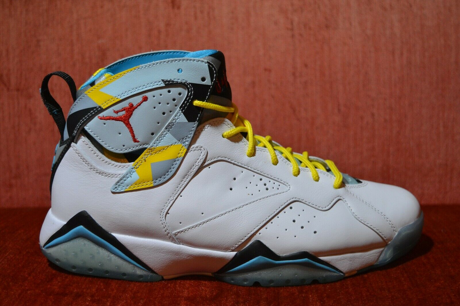 8c6360c275c665 WORN TWICE Nike Air Jordan 7 Retro N7 White White White Ice bluee 744804-144