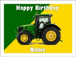 Super John Deere Tractor Edible Icing Birthday Cake Party Decoration Funny Birthday Cards Online Elaedamsfinfo