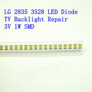 TV-Backlight-LED-Diode-SMD-3528-3V-Coolwhite-for-Samsung-Vizio-LG-RCA-10PCS-WHI