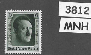 #3812    MNH 1937 Hitler at Nuremberg stamp PF06 Sc B106 Third Reich Germany