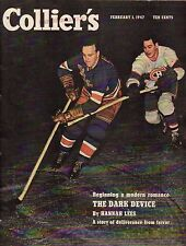 1947 Colliers February 1-Rangers,Blackhawks Hockey; French Foreign Legion; Leigh