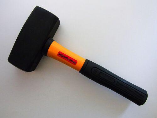 Timber Handle 1.5kg Lump Hammer Mallet SET OF 2 Club Fibreglass Handle 2kg