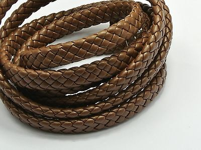 16.4 Feets Brown Flat Braided Bolo Synthetic Leather Cord 10X4mm