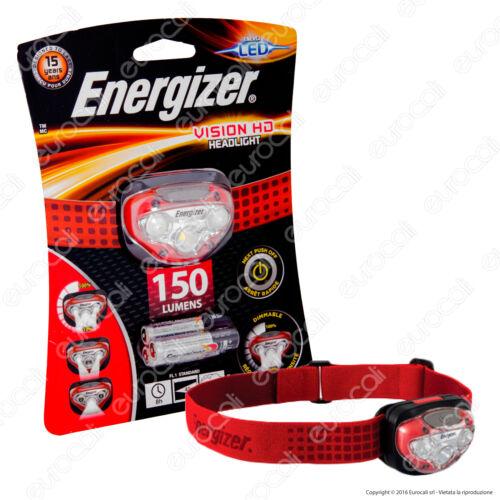 Torcia Frontale Energizer HeadLight Vision HD LED Lampada da Testa per Trekking